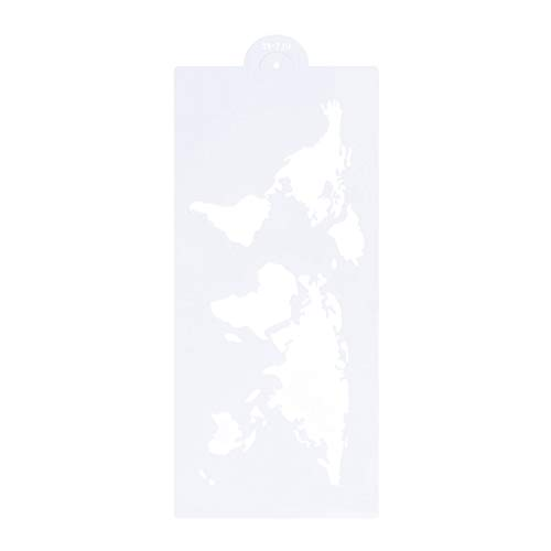 BESTonZON Fondant Keks Formen Erde Karte Silikon Backkuchen Dessert Schimmel 34,7 x 15,7 cm