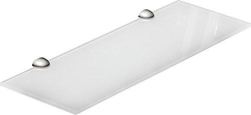 IB-Style - Wandregal - Glasregal | 44 Variationen | 900 x 300 x 8 mm weiß + Halterungen Classico Edelstahloptik