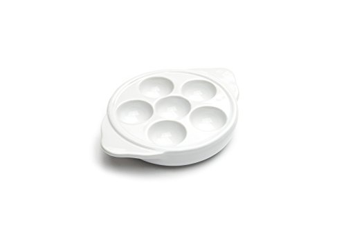 Nantucket Seafood Escargot Plate, Porcelain, 6-Hole