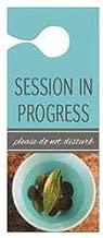 Session in Progress Door Hanger, 3-1/2 x 8-1/2 Inches, Orange, Pack of 10