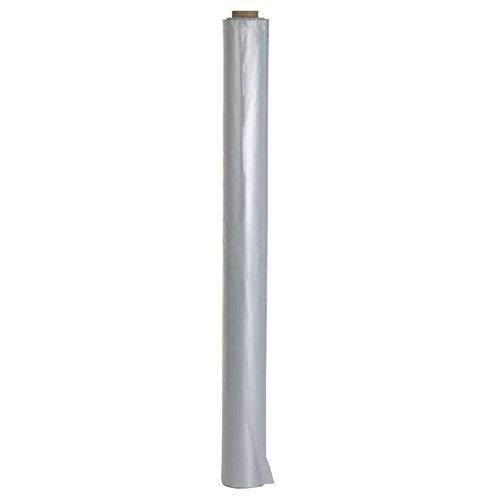 4x Baufolie 2m x 50m (400m²) transparent - Schutzfolie Abdeckfolie Estrichfolie Bauplane