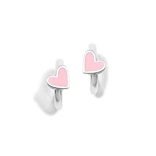Sterling Silver Earrings 925M Agatha Ruiz De La Prada Criollas Enamel Rings Collection Of Agatha Heart