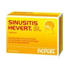 Sinusitis Hevert SL ist ein Arzneimittel bei Schnupfen und Entzündungen der Nasennebenhöhlen und besteht aus 11 versciedenen Komponenten .Spar-Set 2x40 Tabletten