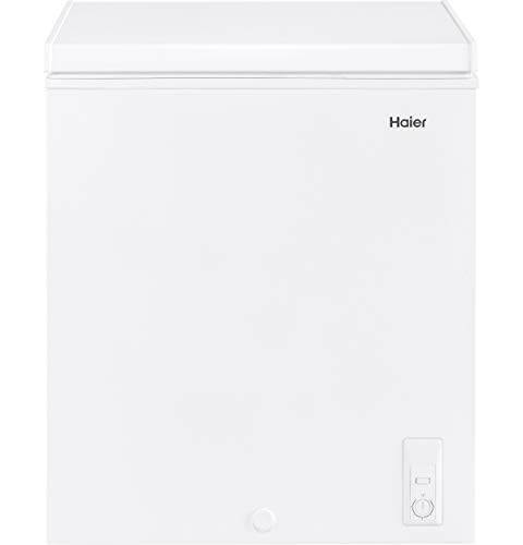 Haier HF50CW20W 5.0 cu. ft. Capacity, White Chest Freezer (Renewed)