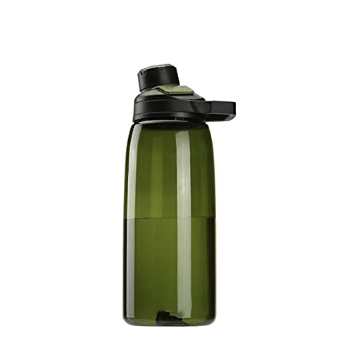 XCHJY Botella de Agua de plástico Deportes Deportes Taza de Agua a Prueba de Fugas Duradero Botella de Agua de la coctelera 1000ml 048 (Color : GR)