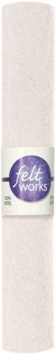 DIMENSIONS White 100% Wool Craft Felt Sheet, 12