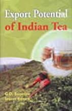 Export Potential of Indian Tea [Aug 01, 2009] Banerjee, G. D.
