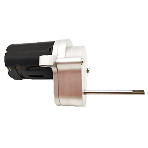 HONG YI-HAT Para WPL D12 1/10 piezas de coche caja de cambios de transmisión de metal con 370 piezas de repuesto de motor (color plateado)