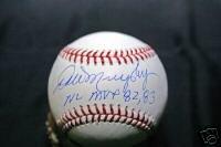 Dale Murphy Autograph Baseball Mvp 82,83 Braves