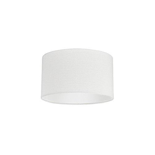 QAZQA Moderno Algodón y poliéster Pantalla tela blanco roto 35/35/20, Redonda/Cilíndrica Pantalla lámpara colgante,Pantalla lámpara de pie