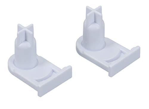 DL-pro 2x Türscharnierbuchse für Bosch Siemens 00169301 169301 Miele 5384490 Buchse Sockel Achse für Scharnier Türscharnier für Gefrierfach Kühlschrank Gefrierschrank