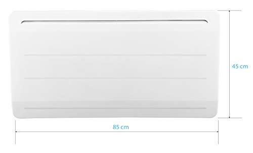 Radiador de hierro fundido, 2000 W, detector de ventana abierta, LCD programable, color blanco