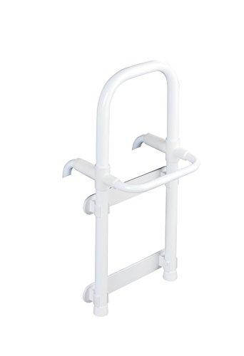WENKO Badewannen-Einstiegshilfe Secura Weiß - verstellbar, Aluminium, 23 x 52 x 22.5-39.0 cm, weiß