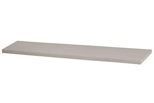 Kallax Regal Sitzauflage 146 x 39 x 4 cm Sitzpolster Sitzbank-Auflage Sitzkissen/Auflage für Sideboard als Sitzbank/unempfindlicher Bezug/Farbe HELLGRAU GRAU