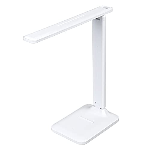 URAQT Lámpara Escritorio, Flexo LED Escritorio, Lámpara de Lectura con 3 Modos y Regulación Sin Niveles Cuidado Ocular, USB Recargable Plegable de Luz Nocturna [Clase de Eficiencia Energética A+++]