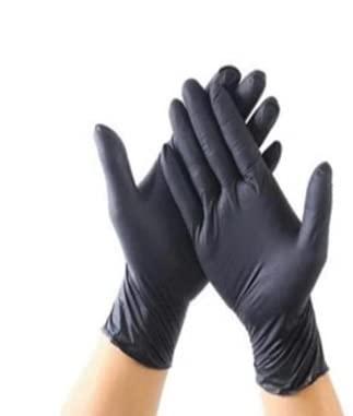 ニトリル手袋黒100枚Lサイズ5.5 milフリーニトリルゴム手袋黒左右兼用無粉(Lサイズ)