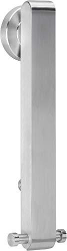 Golden Lutz® Klappgarderobe aus rostfreiem Edelstahl, gebürstet Wand-Kleiderständer, klappbar - Kleben oder Schrauben -