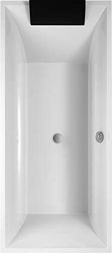 Villeroy & Boch Badewanne Rechteck Squaro 180x80cm weiß (alpin), UBQ180SQR2V-01