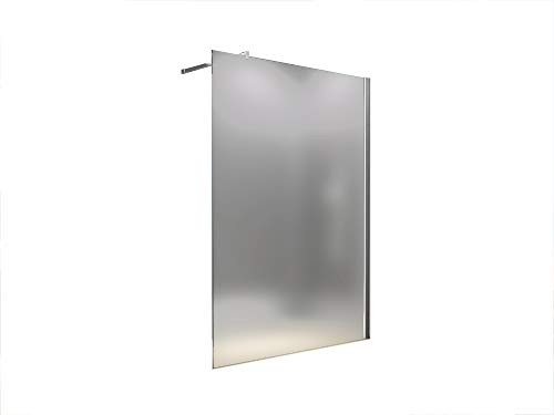 BuyLando.Shop [Typ-Lily] 10mm Walk in Duschwand - Duschabtrennung - Dusche - ESG Glas (100x200cm Satiniert)