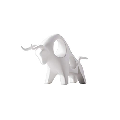 SPFOZ Desk Decoration Sculptures Modern Statue - Fun Outdoor Sculpture Ceramic Bedroom Ornament Decoration - Best Interior Statue of Living Room Table and House (Color : White)