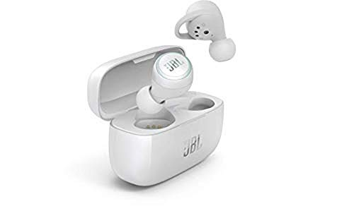 JBL LIVE 300 TWS Cuffie In-Ear True Wireless Bluetooth, Auricolari con Microfono, Noise Cancelling, Alexa integrata e Assistente Google, Fino a 20h di Autonomia, Bianco