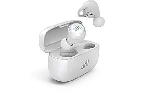 JBL LIVE 300TWS - Auriculares inalámbricos intraaurales, con Bluetooth y tecnologías TalkThru y AmbientAware, hasta 20h de música, Blanco