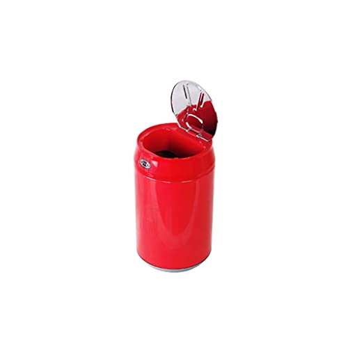YIXIN2013SHOP Cubo de Basura Desktop Smart Sensor Basura Can Home Creative Coke Can Desk Desk Mini Basura Puede Puede Puede Puede Puede Papeleras (Color : Red)