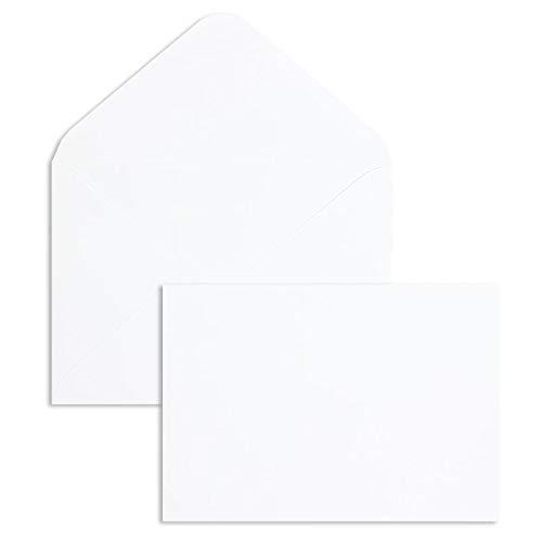 100 Stück, Briefumschläge, DIN C5, Nassklebung, Spitze Klappe, 120 g/qm Offset, Ohne Fenster, Weiß, Blanke Briefhüllen