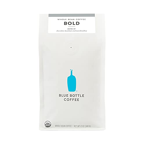 Blue Bottle Coffee Home Blend Bold Organic Whole-Bean Coffee, Darker Roast, 12 oz