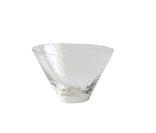 East Majik Set of 2 Japanese Tea Sake Cup Clear Glass Wine Liquor Spirit Sake Cup B