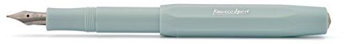 Kaweco Füllfederhalter Skyline Sport I Premium Füllfederhalter Luxus für Tintenpatronen mit hochwertiger Stahlfeder I Kaweco Sport Füller 13,5 cm Mint Federbreite: M (Medium)