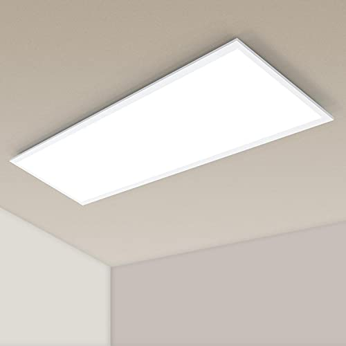 Aigostar - Panel LED Slim 120x30 cm, 40W, Color Blanco Neutro (4000K), 3600 Lumen. Oficina cocina pasillo Salón Dormitorio, etc. A+