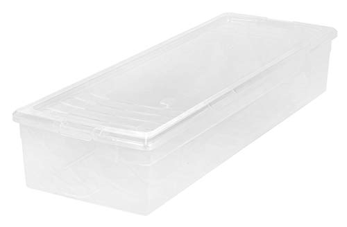 IRIS USA 105000 30' Wrapping Paper Storage Box, Clear