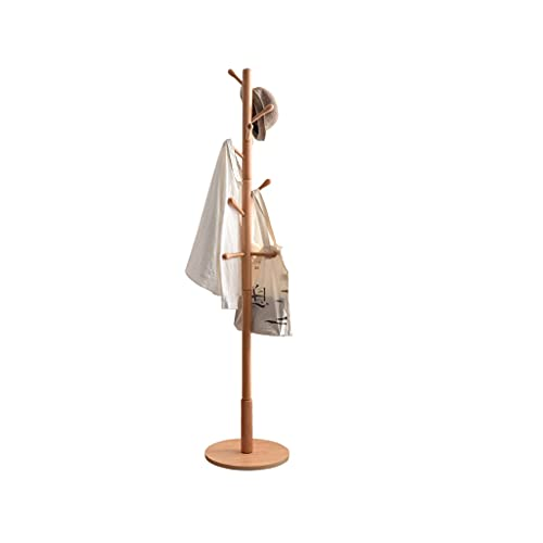 Modern Coat Rack Stand Pretty Stand Enterway Hall Árboles Abrigo Árbol Freestanding Percha de Piso Simple con 10 Ganchos (Color : White)