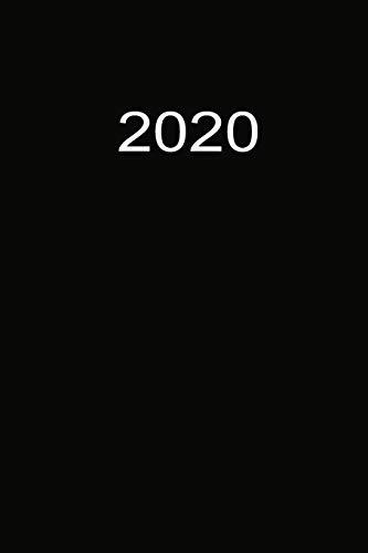 2020: Buchkalender 2020 A5 Schwarz
