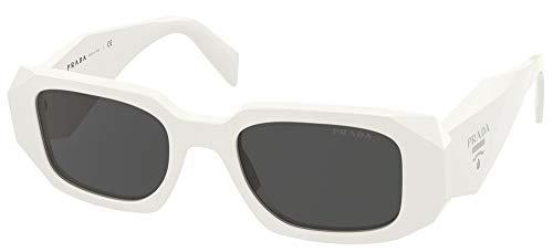 Prada Gafas de Sol PR 17WS White/Dark Grey 49/20/145 mujer