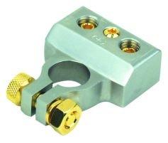 BOSS bt1N, Terminal de la batería, Negativo, Platino, 2x para Cables de hasta 4Calibre (25mm²) Calibre, 1x para Cables de hasta 8(10mm²)