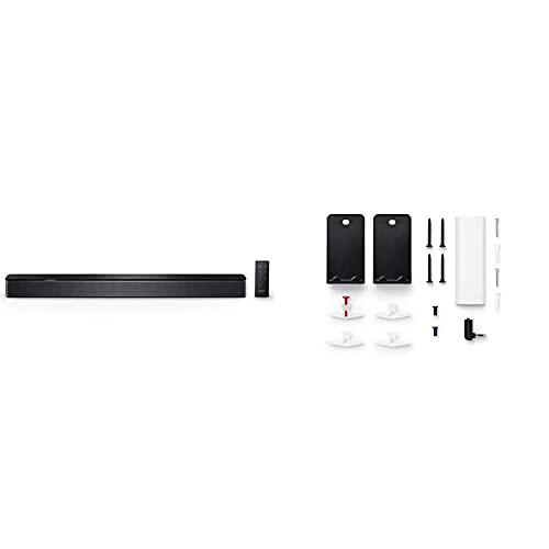 Bose Smart Soundbar 300 Con Connettività Bluetooth E Controllo Vocale Alexa Integrato, Nero & Soundbar Staffa Da Parete In Acciaio, Nero