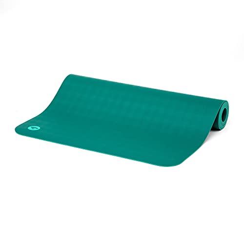 Bodhi Yogamatte ECO PRO | 100% Naturkautschuk | Extrem Rutschfest | 100% natürlich & ökologisch | Profi-Matte für Yoga & Pilates | Ideal für dynamisches Yoga | 185 x 60 x 0,4 cm | jungle-green