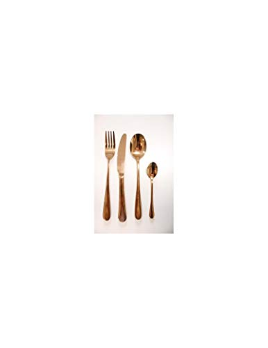 BRANDANI Set Posate SOTTOBOSCO Rose Gold 16 PZ Inox