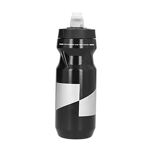 Sdfafrreg Botella de Ciclismo, a Prueba de Fugas, portátil, Segura, sin olores peculiares, Botella de Agua para Bicicletas, Conveniente para Deportes al Aire Libre para Deportistas(Black)