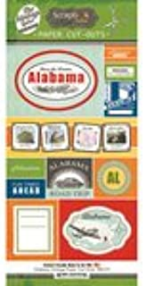 Scrapbook Customs - Vintage Label Collection - Vintage Paper Cut Outs - Alabama