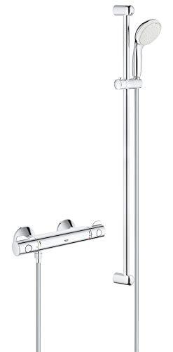 GROHE Grohtherm 800 | Brause- und Duschsystem - Thermostat -Brausebatterie, inkl. Brausegarnitur | chrom | 34566001