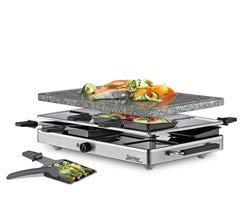 Spring Raclette mit Alugrillplatte-KP3267410001 Raclette mit Granitstein Grau one size