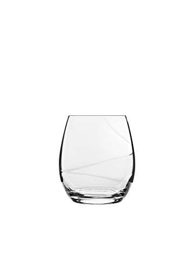 Luigi Bormioli Aero Stemless wine Glass, 13.5-Ounce, Set of 6
