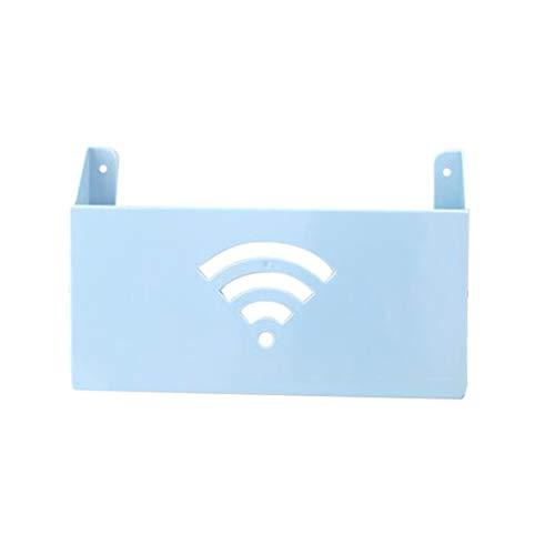 Yardwe Estante Router de Pared WiFi Cable Cajas de Almacenamiento(Azul)