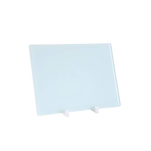 Zyj stores-Computer Kühlpads Magnetische Whiteboard-Tischplattenhalterungsarbeits-Notizbrett aus Glas (Color : White)