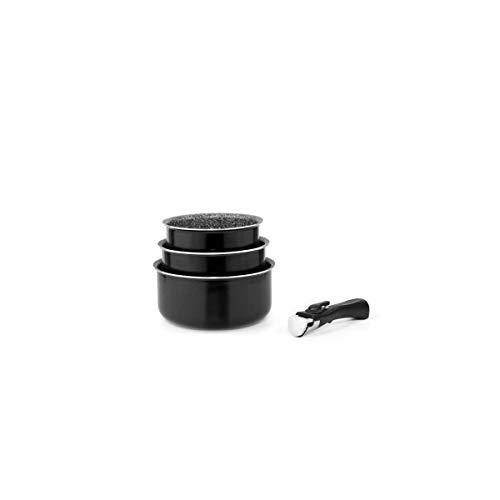 Set de 3 casseroles amovibles Noir 16/18/20 cm Arthur Martin