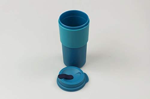 Tupperware Thermobecher to Go Becher 490 ml türkis-blau Kaffeebecher 37782
