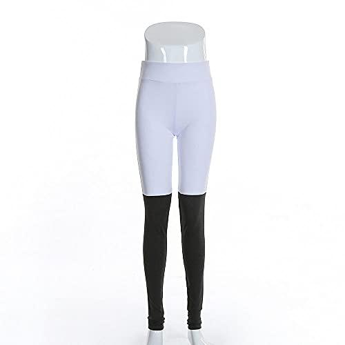 ArcherWlh Leggings Push Up,Pantalones de Fitness Europeos Pantalones de Yoga Mujeres Fitness Yoga-Blanco_Metro